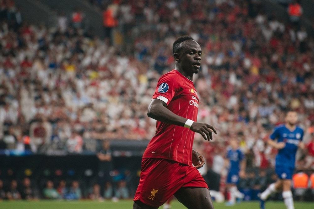 Sadio Mane scores in the English Premier League Final Day